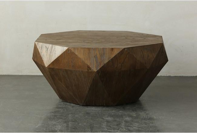 Elm Geometric Drum Coffee Table  - 360