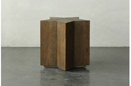 22 Inch Elm Star Shape Accent Table