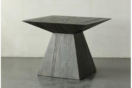 Dark Elm Square Dining Table