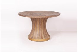 Round Cone Elm Dining Table