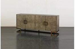 Grey Oak Modern 4 Door Sideboard