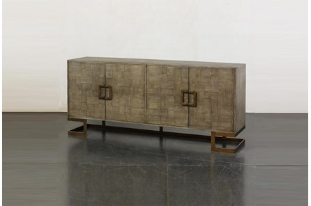 Grey Oak Modern 4 Door Sideboard