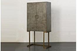 Grey Oak Modern 2 Door Tall Cabinet
