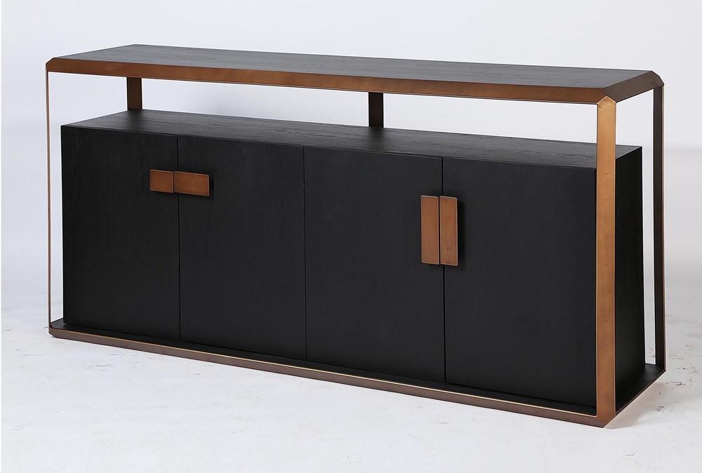 Black Oak + Bronze Sideboard