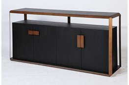 Black Oak + Bronze Sideboard