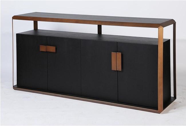 Black Oak + Bronze Sideboard - 360