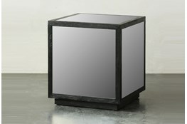 Black Mirrored Square Table