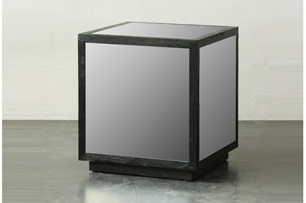 Black Mirrored Square Table