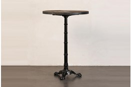 Elm + Antique Metal Bar Table