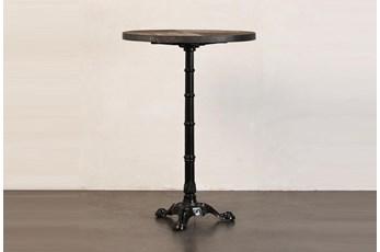 Elm + Antique Metal Bar Table