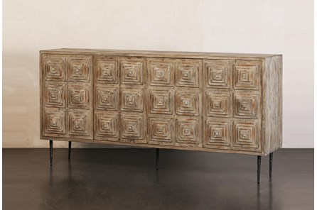 Pine Faceted Sideboard