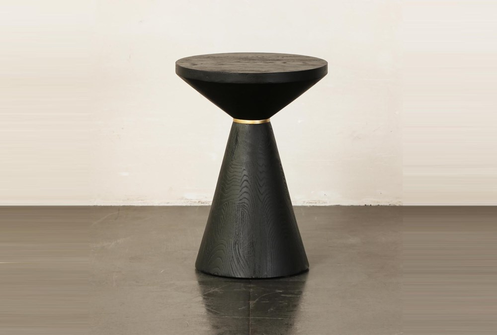 Black Cone Shape Accent Table