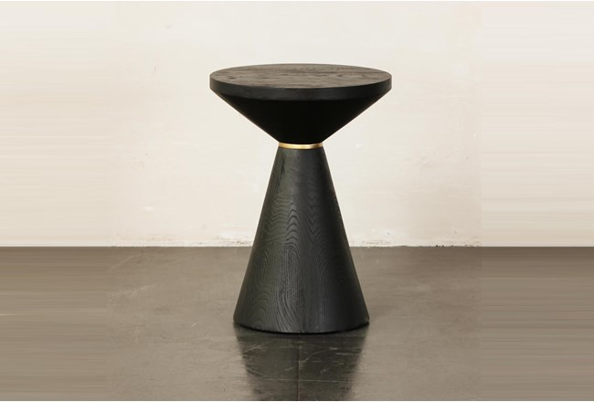 Black Cone Shape Accent Table - 360