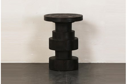 Black Structural Accent Table