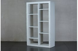 Antique White Large Open Bookcase