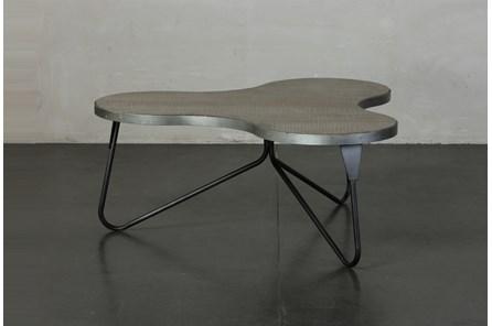 Pine + Metal Irregular Shape Coffee Table