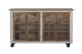 Reclaimed Pine + White Wash Farmhouse Sideboard