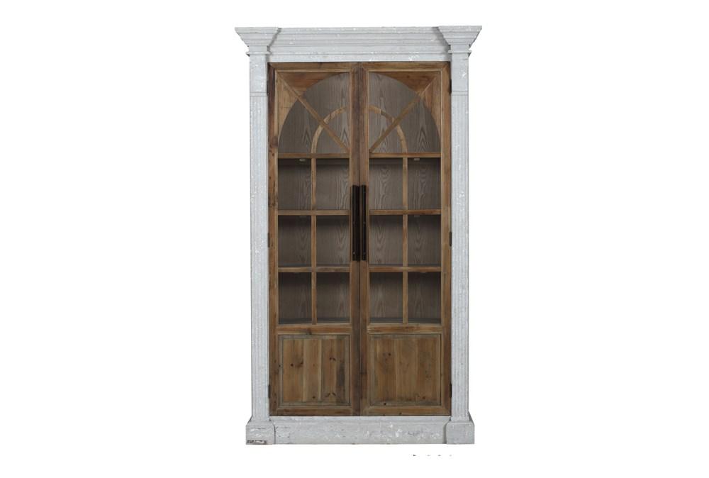 Reclaimed Pine + White Wash Farmhouse Tall Cabinet