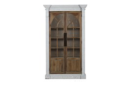 Reclaimed Pine + White Wash Farmhouse Tall Cabinet