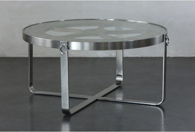 Glass + Reclaimed Nautical Coffee Table - 360