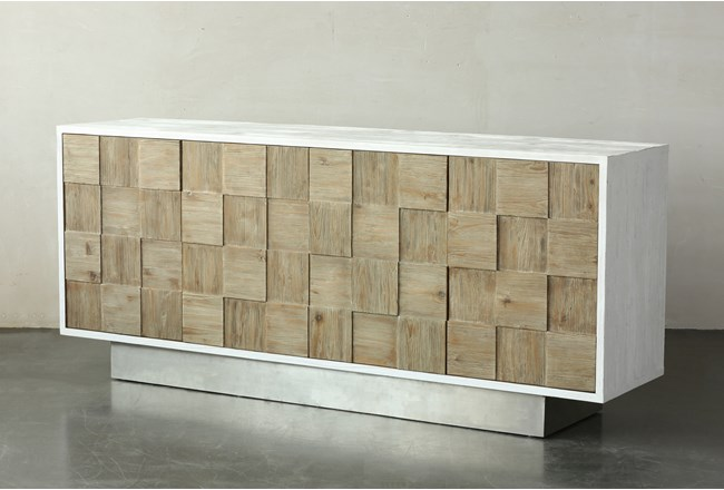 Weathered + Antique White Sideboard  - 360