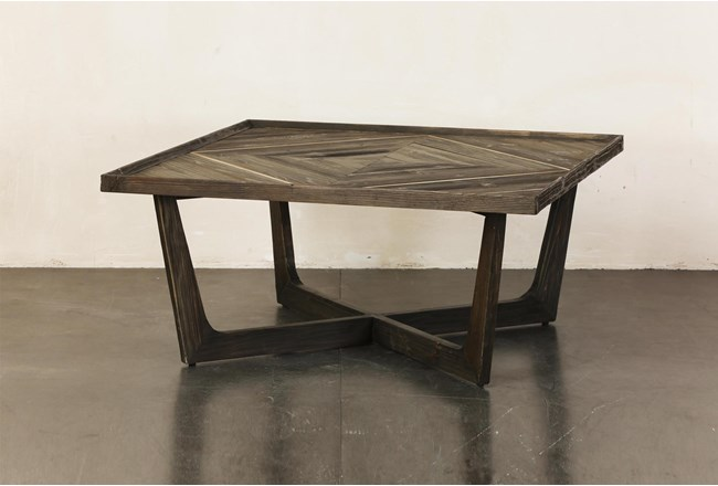 Natural Reclaimed Pine Coffee Table - 360