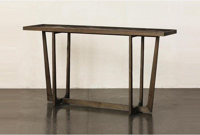 Natural Reclaimed Pine Sofa Table - 360