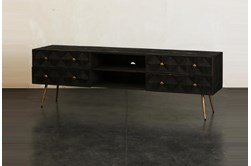 Dark Brown 4 Drawer Tv Stand