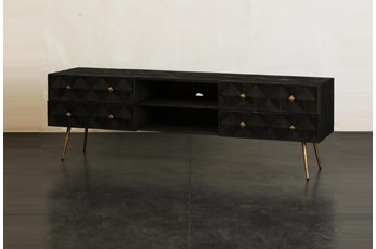 Dark Brown 4 Drawer Tv Stand