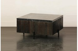 Baked Black Marble Coffee Table