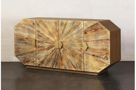 Baked Yellow + Gold Sideboard