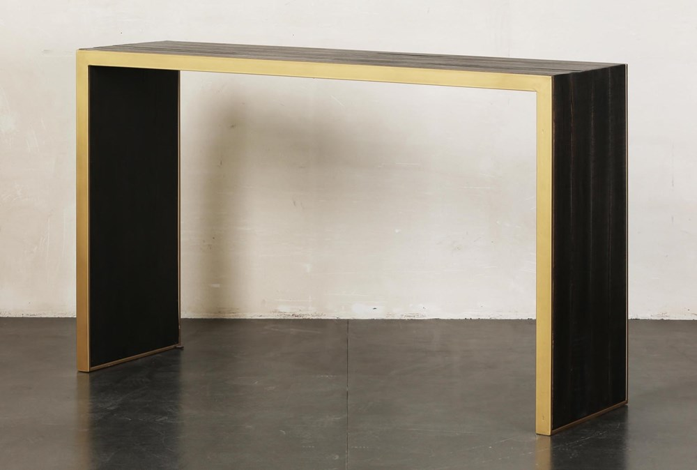 Brown + Gold Sofa Table