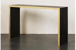 """Brown + Gold 55"""" Sofa Table"""