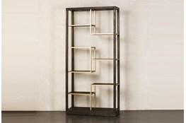 Dark Brown + Multi Level Gold Bookcase