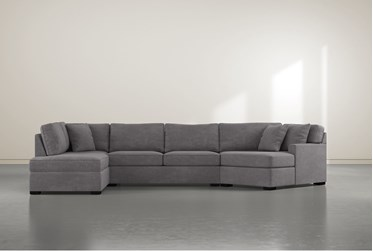 """Alder Foam 3 Piece 163"""" Sectional With Left Arm Facing Armless Chaise"""