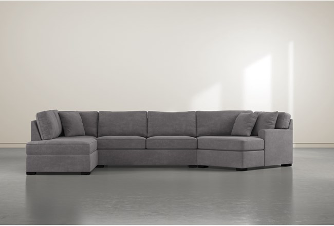 """Alder Foam 3 Piece 163"""" Sectional With Left Arm Facing Armless Chaise - 360"""
