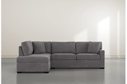 """Alder Foam 2 Piece 108"""" Sectional With Left Arm Facing Armless Chaise"""