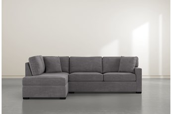 "Alder Foam 2 Piece 108"" Sectional With Left Arm Facing Armless Chaise"