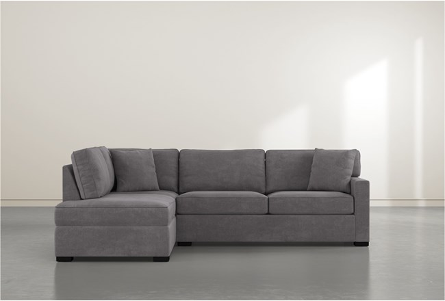 """Alder Foam 2 Piece 108"""" Sectional With Left Arm Facing Armless Chaise - 360"""