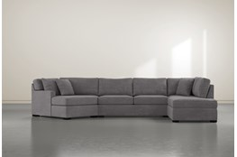 "Alder Foam 3 Piece 163"" Sectional With Right Arm Facing Armless Chaise"