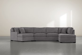 """Alder Foam 3 Piece 163"""" Sectional With Right Arm Facing Armless Chaise"""