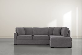 """Alder Foam 2 Piece 108"""" Sectional With Right Arm Facing Armless Chaise"""