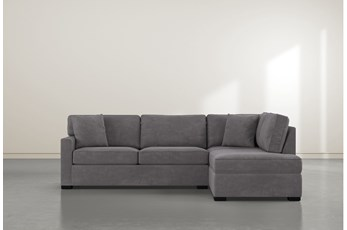 "Alder Foam 2 Piece 108"" Sectional With Right Arm Facing Armless Chaise"