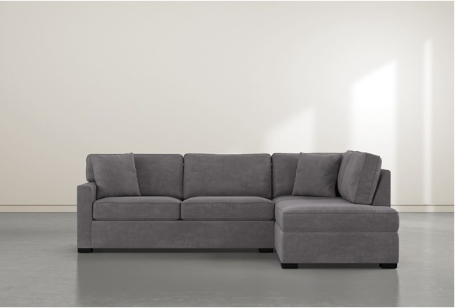 Alder Foam 2 Piece Sectional With Right Arm Facing Armless Chaise - 360
