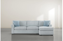 Aspen Tranquil Foam 2 Piece Sectional With Right Arm Facing Chaise