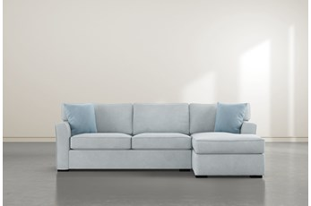 """Aspen Tranquil Foam 2 Piece 105"""" Sectional With Right Arm Facing Chaise"""