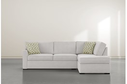 "Aspen Sterling Foam 2 Piece 108"" Sectional With Right Arm Facing Armless Chaise"