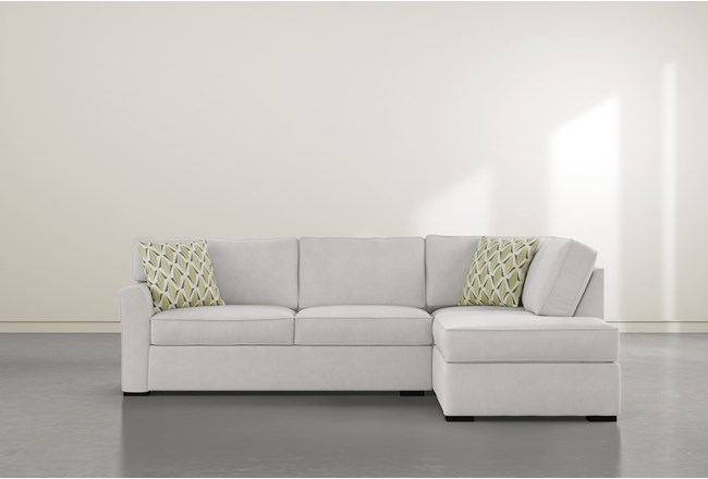 """Aspen Sterling Foam 2 Piece 108"""" Sectional With Right Arm Facing Armless Chaise - 360"""