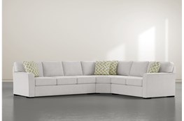 "Aspen Sterling Foam 3 Piece 125"" Sectional With Left Arm Facing Sofa"