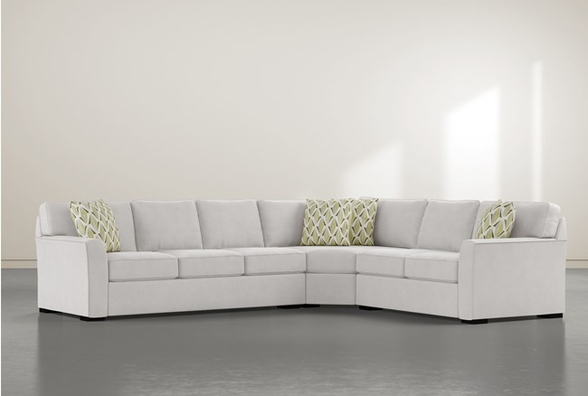 """Aspen Sterling Foam 3 Piece 125"""" Sectional With Left Arm Facing Sofa - 360"""